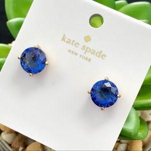 Kate Spade Blue/Gold Gumdrop Earrings